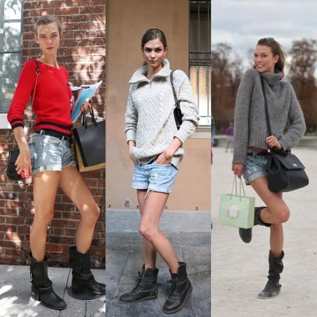 008 shorts + botas karlie kloss